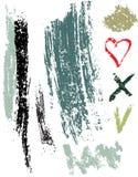 Elementos sujos do vetor Imagem de Stock Royalty Free