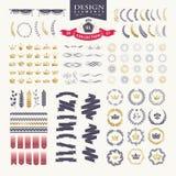 Elementos superiores do projeto Grande para logotipos retros do vintage Imagem de Stock