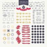 Elementos superiores do projeto Grande para logotipos retros do vintage Imagem de Stock Royalty Free