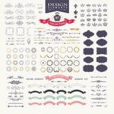 Elementos superiores do projeto Grande para logotipos retros do vintage Fotografia de Stock Royalty Free