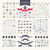 Elementos superiores do projeto Grande para logotipos retros do vintage Foto de Stock Royalty Free