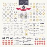 Elementos superiores do projeto Grande para logotipos retros do vintage Fotos de Stock Royalty Free