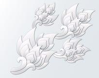 Elementos tailandeses cortados papel del diseño Foto de archivo libre de regalías