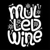 Elementos tipográficos dibujados mano reflexionados sobre lindos del vino que ponen letras en fondo de la pizarra ilustración del vector