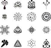 Elementos tradicionais do projeto do turco do otomano ilustração do vetor
