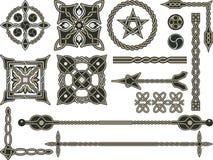 Elementos tradicionales célticos Foto de archivo