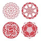 Elementos tradicionales coreanos del diseño Fotografía de archivo