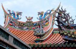 Elementos tradicionales del tejado del templo chino imágenes de archivo libres de regalías