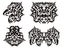 Elementos tribais do dragão Imagens de Stock