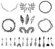 Elementos tribales del vector Fotografía de archivo libre de regalías