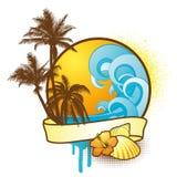 Elementos tropicales coloridos del diseño Imagenes de archivo