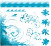 Elementos tropicales del diseño Foto de archivo libre de regalías