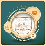 Elementos tropicales del diseño web de Sun Foto de archivo libre de regalías