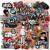 Elementos urbanos da arte dos grafittis Imagem de Stock Royalty Free