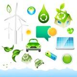 Elementos verdes de la energía Foto de archivo libre de regalías