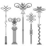 Elementos verticais Imagem de Stock Royalty Free