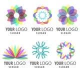 Elementos vibrantes do logotipo da cor Imagem de Stock