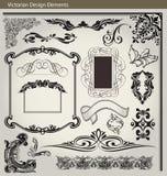 Elementos victorianos del diseño Foto de archivo libre de regalías