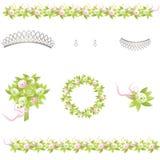Elementos Wedding del diseño Foto de archivo
