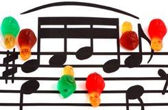 Elementos y caracoles de la notación de música Imagen de archivo libre de regalías