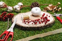 Elementos y herramientas decorativos Fotografía de archivo libre de regalías