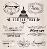 Elementos y marcos tailandeses del diseño del vintage del modelo del arte Imagen de archivo