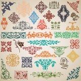 Elementos y modelos decorativos en el vector Imagen de archivo libre de regalías