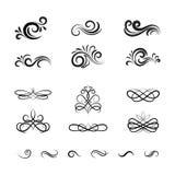 Elementos y ornamentos decorativos del vector del vintage Imagenes de archivo
