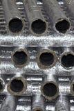 Elementos y piezas hechos de la hoja galvanizada para los diversos sistemas de ventilaci?n imagen de archivo libre de regalías