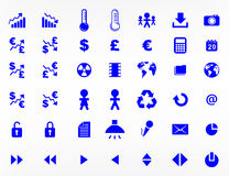 Elementos y símbolos del Web site Imágenes de archivo libres de regalías