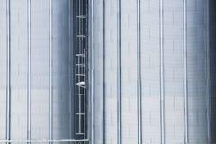 Elementos y textura de un silo del cereal Fotos de archivo