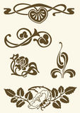 Elements. Stylization of an ancient Elements of the beginning of 20 centuries vector illustration