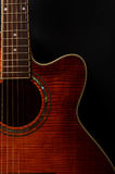 Elements of acoustic guitar Stock Images