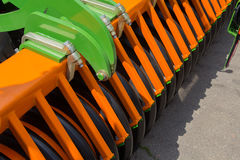 Elements of agricultural machinery close up Royalty Free Stock Photography