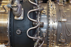 Elements of aircraft engine close-up Stock Photography