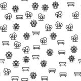 Elements Of Amusement Park Seamless Pattern Vector vector illustration