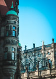 Elements of ancient European building. Old house in Dresden, Germany Royalty Free Stock Photography