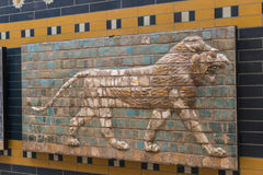 Elements of the Antiquity of the Babylonian Wall. With Animal Mosaic royalty free stock photography