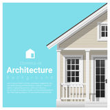 Elements of architecture background with a small house Stock Photography