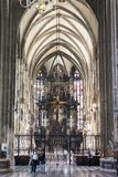 Elements of architecture are the church of St. Stephen in Vienna in Austria. Stock Photos