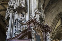 Elements of architecture are the church of St. Stephen in Vienna in Austria. Stock Images