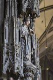 Elements of architecture are the church of St. Stephen in Vienna in Austria. 23 AUGUST 2017, VIENNA, AUSTRIA:Elements of architecture are the church of St stock photography