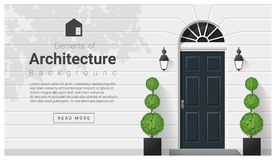 Elements of architecture , front door background. Vector ,illustration royalty free illustration