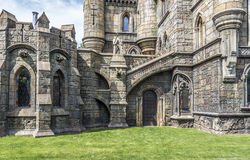 Elements of architecture in the Gothic style royalty free stock images