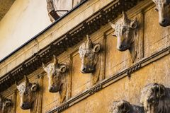 Elements of architecture of an old slaughterhouse. In the city of Verona in Italy royalty free stock image