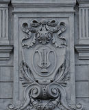 Elements of Architecture at the Opera in Lviv. Bas-relief on facade of Lviv State Academic Opera and Ballet Theatre. Theatre was built in classical tradition of royalty free stock photos