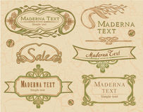 Elements Art Nouveau. Vector set: calligraphic design elements and decoration, Premium Quality and Satisfaction Guarantee Label collection with in retro style in Royalty Free Stock Images