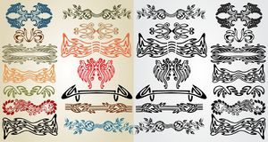 Elements art nouveau pattern Stock Photo