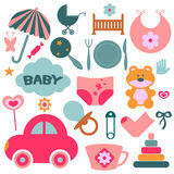 Elements for babies Royalty Free Stock Image