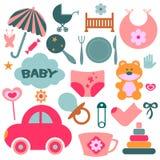 Elements for babies vector illustration